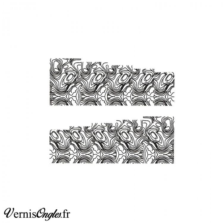 Water decals nacres noirs