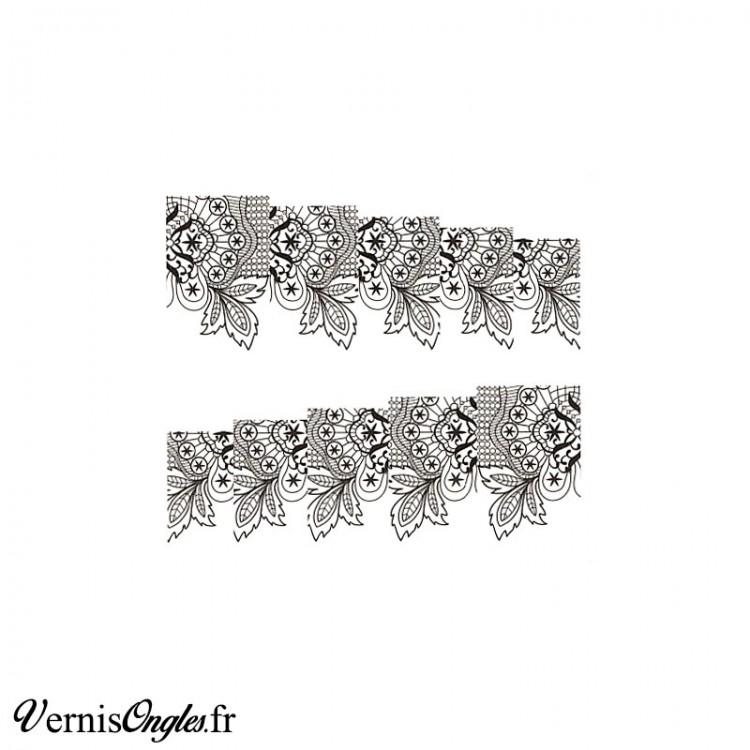 Water decals motifs noirs