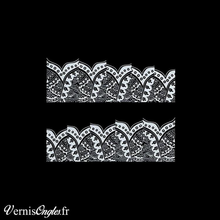 Water decals motifs blancs