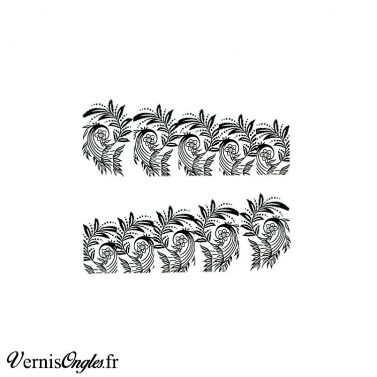 Water decals arabesques