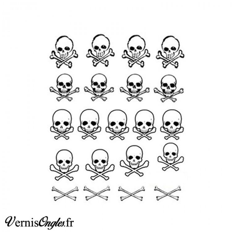 Water decals têtes de mort