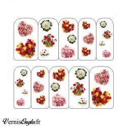 Water decals bouquets de fleurs