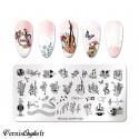 Boite de studs or et argent nail art pour ongles