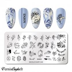 Plaque de stamping Nicole Diary 240