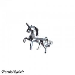 Bijou d'ongle licorne argenté