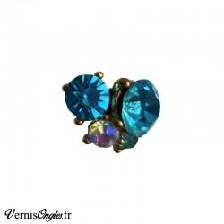 Bijou d'ongle strass bleus 3DN27