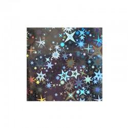 Foil étoiles holo argent
