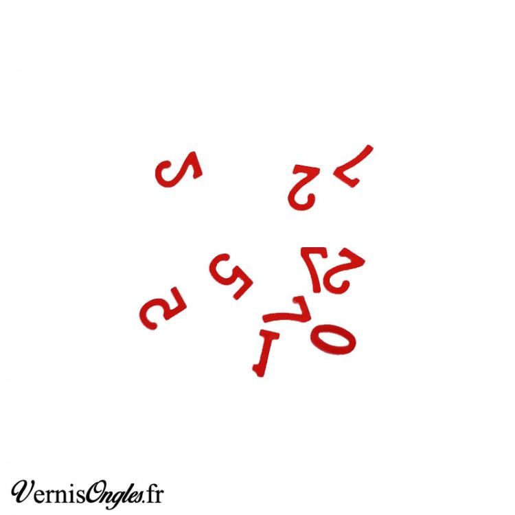 Paillettes en forme de chiffre