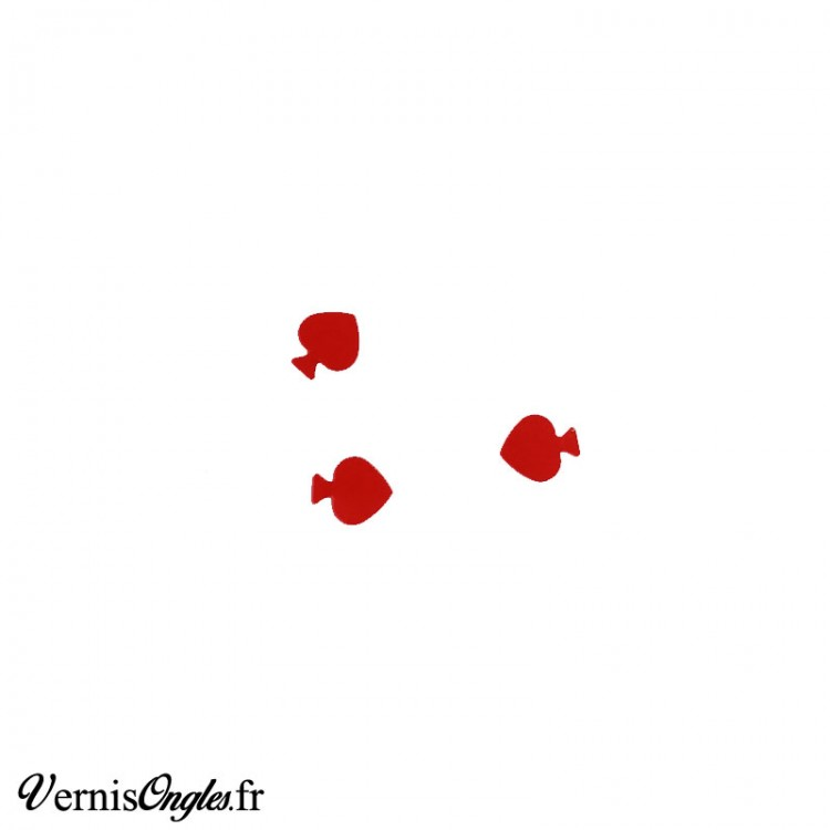 Paillettes piques rouges