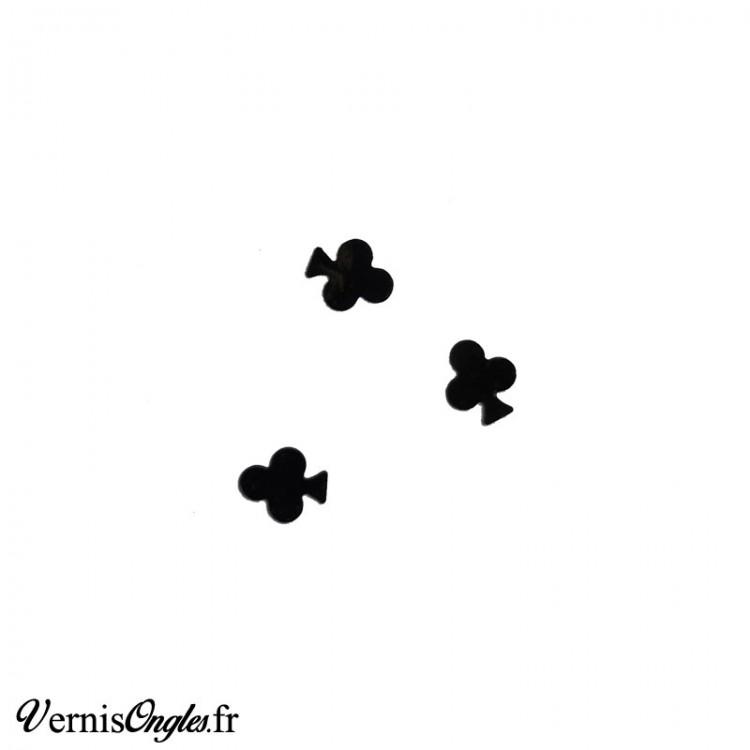 Paillettes trèfles noirs