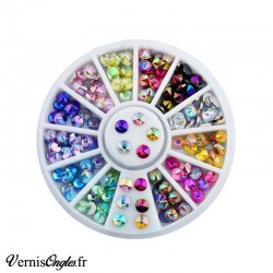 Strass dômes multicolores pour ongles