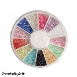 Strass irisés multicolores pour le nail art