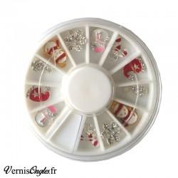 Bijoux d'ongles thème Noël pour le nail art