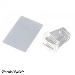 Tampon de stamping transparent rectangle