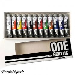 Peinture One Acrylic 12 tubes de 20ml Maimeri