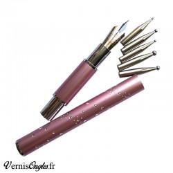 Outil 6 en 1 dotting tools et plume pour le nail art