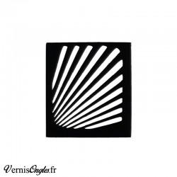Pochoirs motif rayons pour le nail art