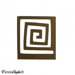 Pochoirs motif spirale carrée pour le nail art