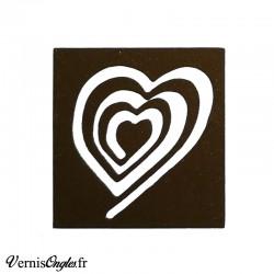 Pochoirs motif spirale cœur pour le nail art