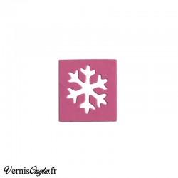 Pochoir en vinyle flocons de neige pour le nail art
