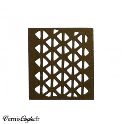 Pochoir motif petits triangles pour le nail art