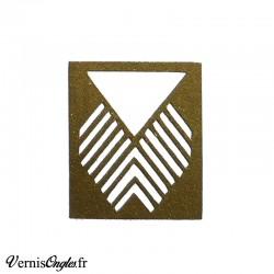 Pochoirs motif triangle et chevrons pour le nail art