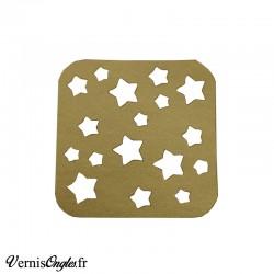 Pochoirs motif étoiles pour le nail art