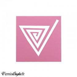 Pochoirs motif spirale triangle pour le nail art