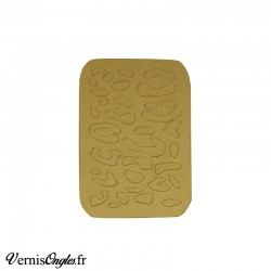 Pochoirs motif léopard pour le nail art