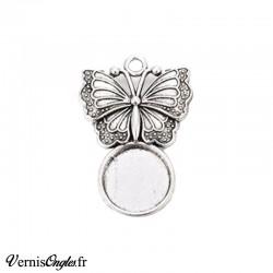 Support pour cabochon motif papillon