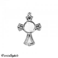 Support croix pour cabochon rond