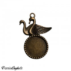 Support cabochon cygnes