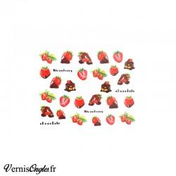 Water Decals fraises au chocolat