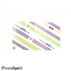 Water Decals vichy vert et violet