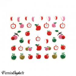 Autocollants pailletés pommes