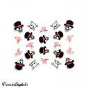 Boite de paillettes Glitter Rouges pour ongles