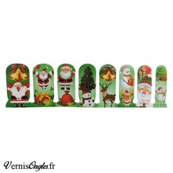 Vernis adhésif motif Noël vert