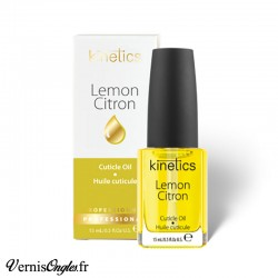 Huile à cuticules au citron de la marque Kinetics.