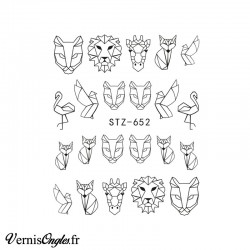 Water Decals origamis animaux