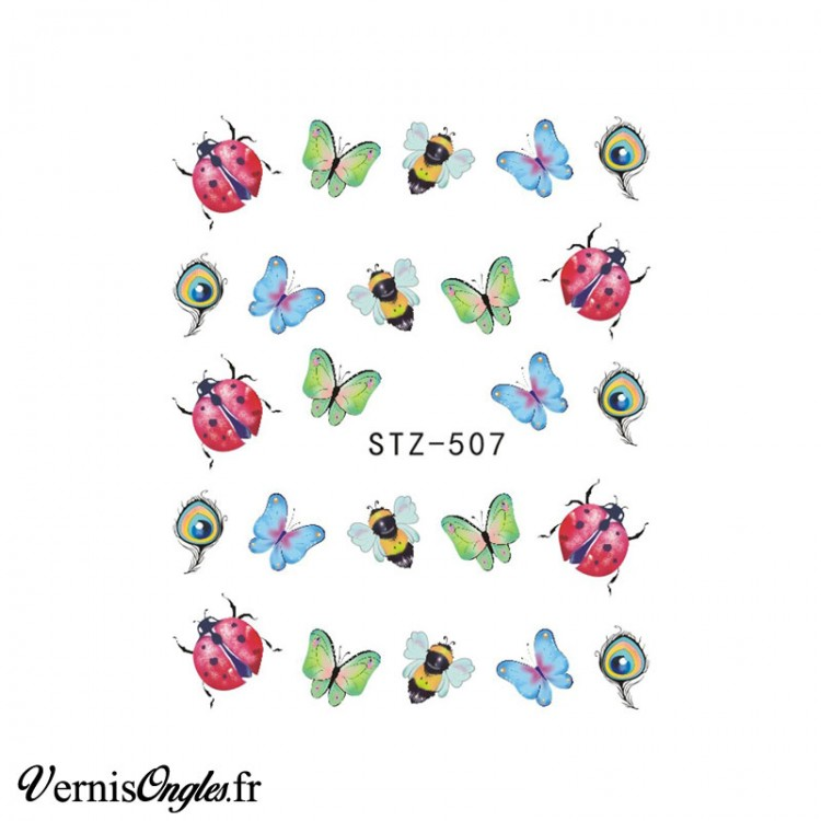 Water Decals insectes