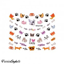 Water Decals chiens et chats WG2108