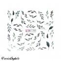 Carrousel de strass argent irisé forme marquise 2 tailles différentes pour ongles