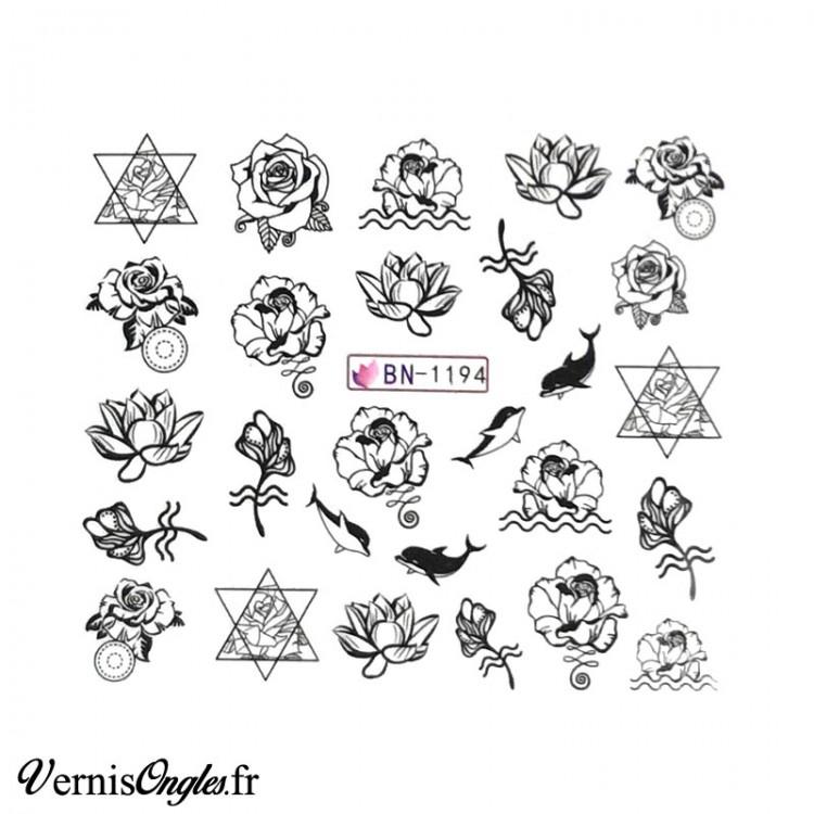 Bijou 3d Triangle doré rose