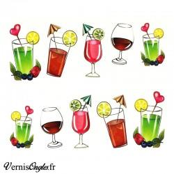 Wtaer decals cocktails
