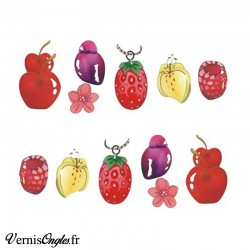 Water decals fruits