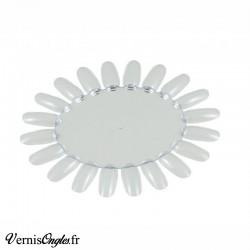 Nuancier Marguerite clear transparent pour ongles. Prix 1€