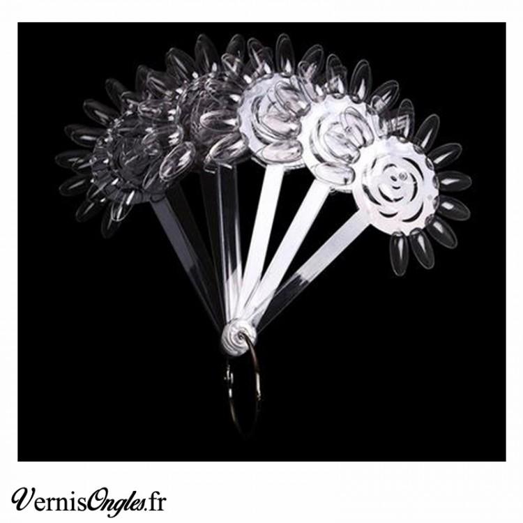 Nuancier sucettes fleurs clear transparent pour ongles.