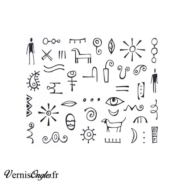 Water decals Hiéroglyphes