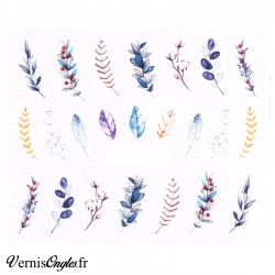 Water decals feuilles