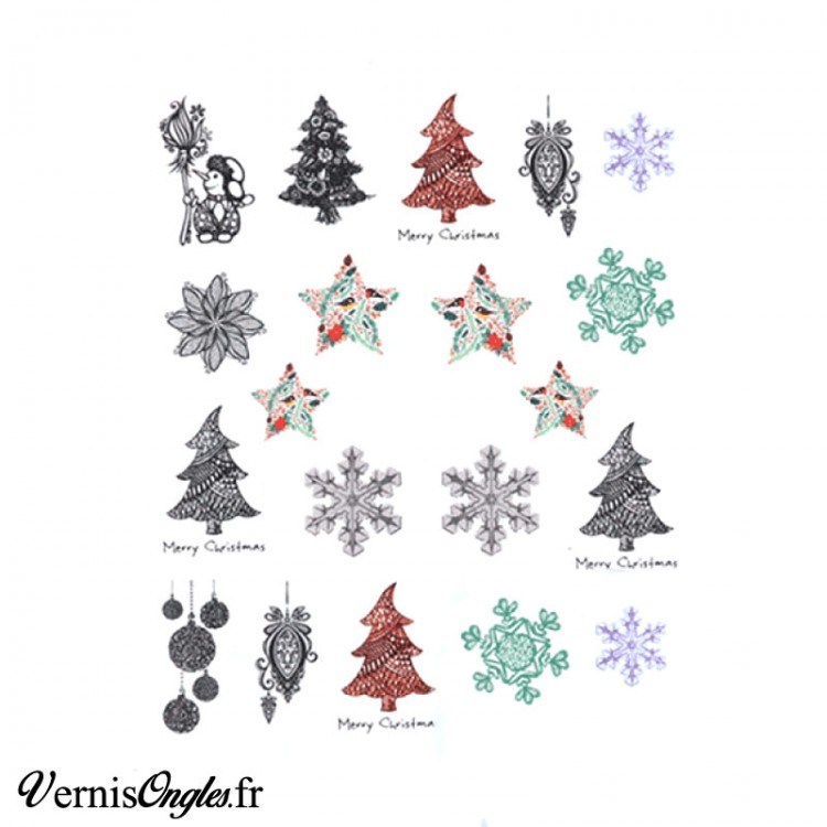 Water decals motifs hiver